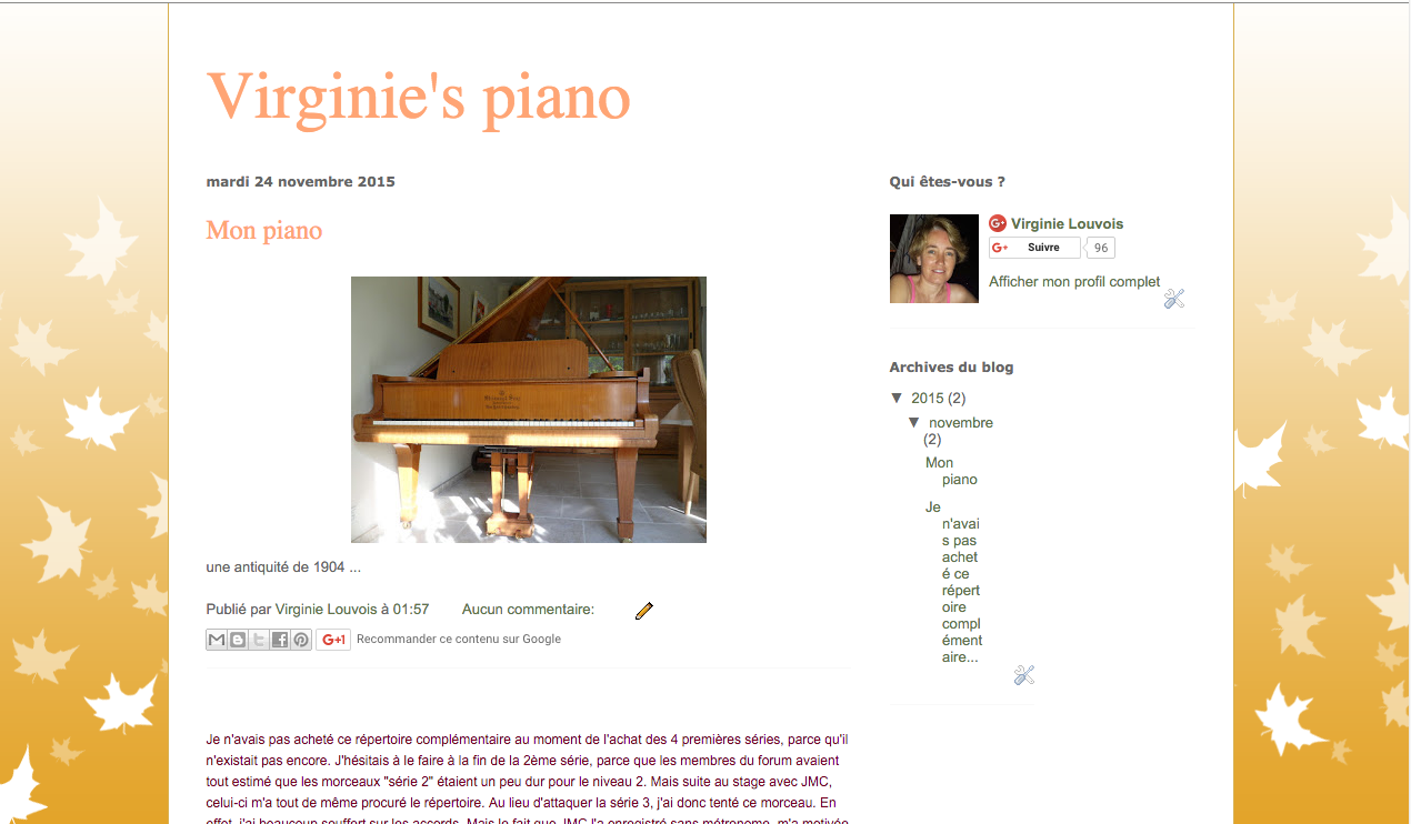 Blogger.com beta blog Virginie piano