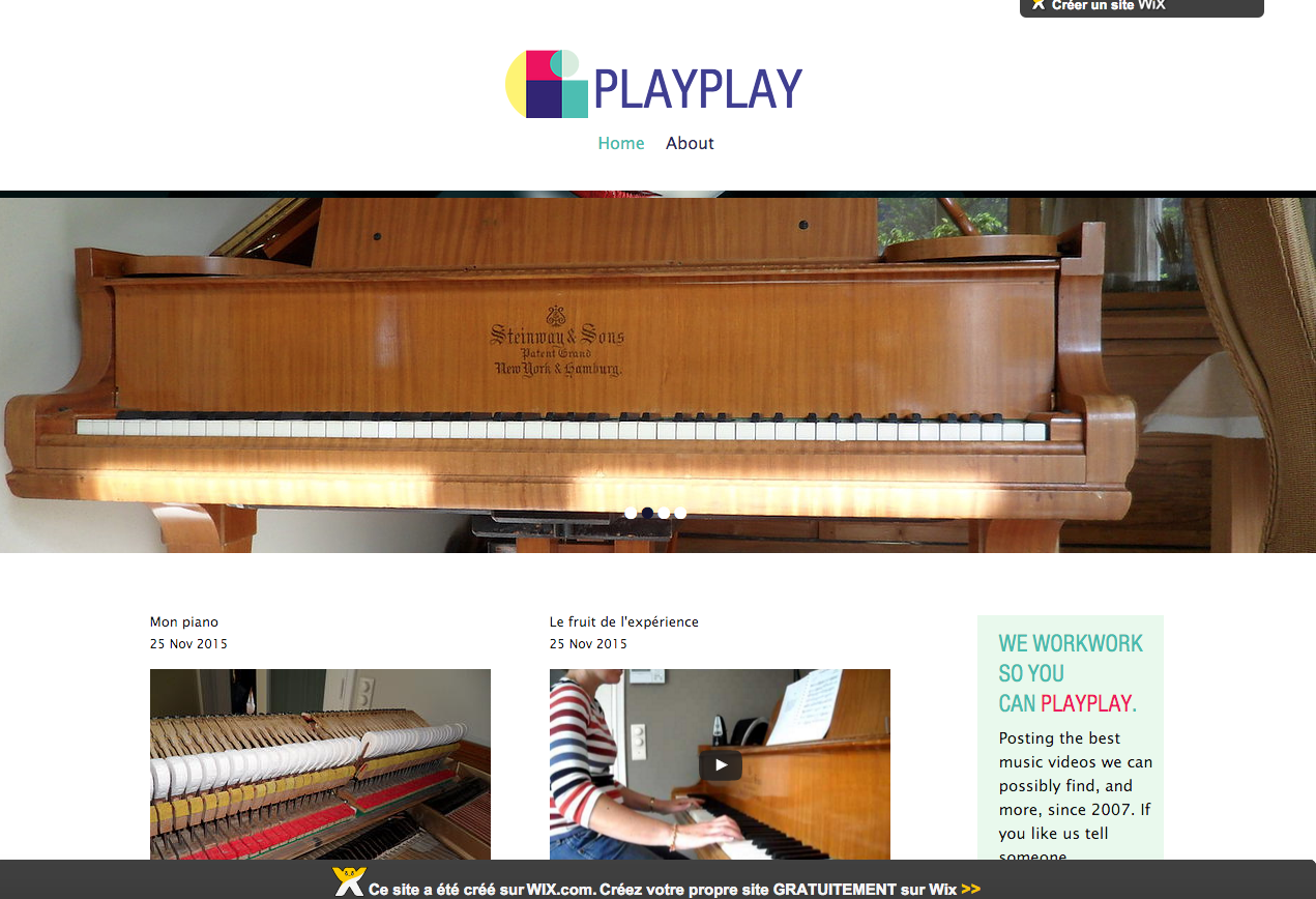 Wix.com beta blog Virginie piano