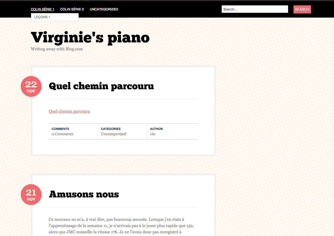 Blog.com beta blog Virginie piano